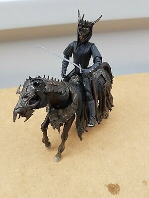 2001 LORD OF THE RINGS RIDER MOUTH SAURON & HORSE MARVEL FIGURES SET rare lotr