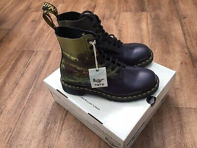 109e0c2a469 Dr Martens x TATE JMW Turner Fisherman Crystal Suede Size 9 Rare Item Brand  New