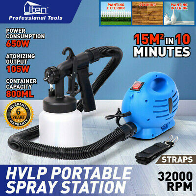 Electric HVLP Paint Sprayer Spray Gun Lacquer Fence Wall Furniture 650W 800ml