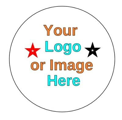 Custom Logo Personalised 37mm circle Business/Company Name Labels/stickers