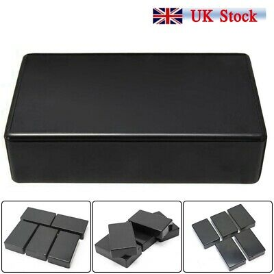 5 Pcs Black ABS Plastic Box for Electronics Hobby Projects Enclosure Case Tool