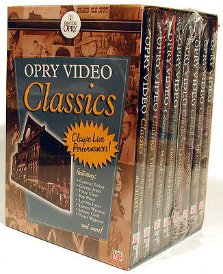 Grand Ole Opry Video Classics 120 PERFORMANCES - 8 DVDS - BRAND NEW SEALED RARE