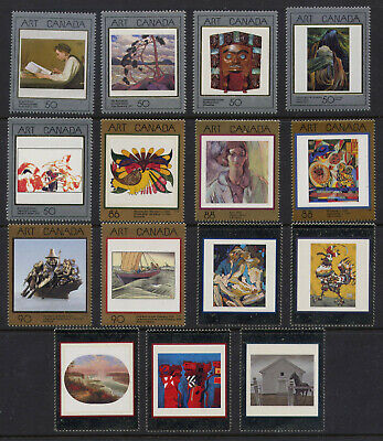Canada Sc1202-1945 Full Set Of Masterpieces Of Canadian Art Mnh Fv$12.02