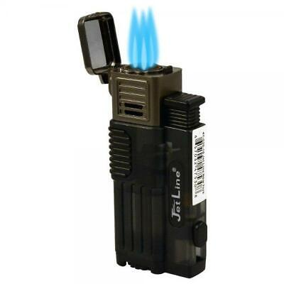JetLine Gotham Lite Triple Jet Torch Cigar Lighter - Black - New
