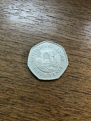 50p Coin 1997 Bailiwick Of Jersey Grosnez Castle