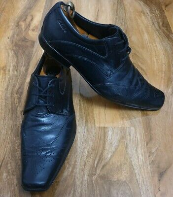 f3f3bc0d53fc6 MOSS BROS LONDON Black Patent Dress Shoes Size UK 9 EUR 43 Wedding ...