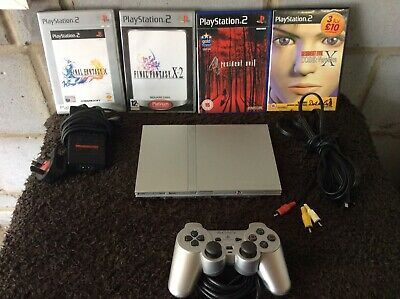 PlayStation 2 PS2 Slim Console With Resident Evil And Final Fantasy Games Bundle