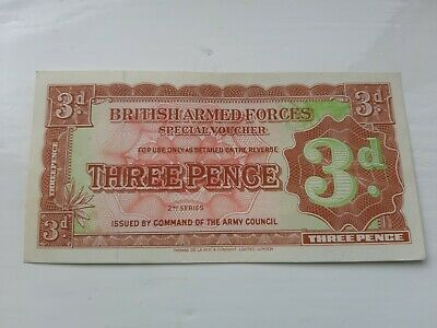 British Armed Forces 3d Second Series 1948 Uncirculated.