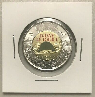 CANADA 2019 New $2 Toonie 75th Anniversary of D-Day COLOR (UNC From mint roll)