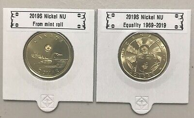 CANADA 2019 New 2 x Loonie Kit Original Common Loan / Equality 1969-2019 (UNC)