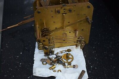Antique Westminster Chime Movement Plus Original Hands And Gongs Key Pendulum