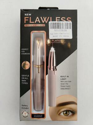 Finishing Touch Flawless Brows Eyebrow Hair Trimmer Remover, Blush/Rose Gold