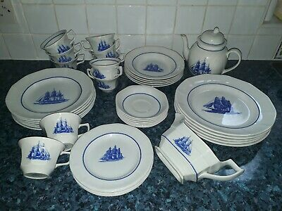 Wedgwood Rare - Georgetown The American Clipper Ship Large Porcelain China Set