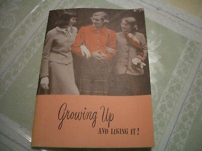 """MODESS 1950""""s BOOK FOR GIRLS - GROWING UP AND LIKING IT, MENSTRUATION, DO/DON'T"""
