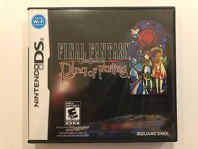 Final Fantasy Crystal Chronicles Ring of Fates [Nintendo DS] Authentic •Complete