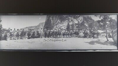 6 x Antique B&W Negatives Panorama View Yellowstone Nat'l Park Wyoming 1900s
