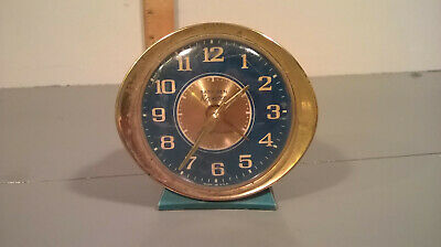 "Vintage Bright Blue Westclox Baby Ben Repeater Alarm Clock ""AS IS"""