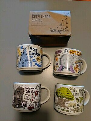BNIB Lot of 4 Disney Starbucks Been There Series Pin Drop Collection 2019 Mugs