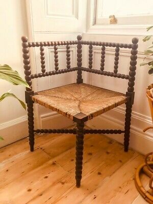 Antique 'Arts & Crafts' Bobbin Turned Corner Chair