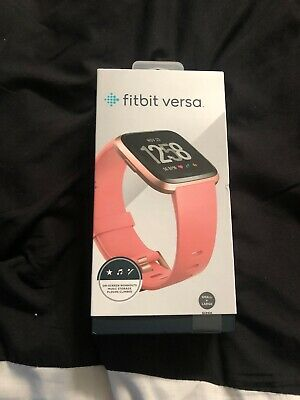 Fitbit Versa Smart Watch, Peach/Rose Gold Aluminium, One Size (S & L Bands Inc..