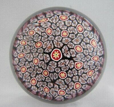 Org Vintage High Quality Art Glass- Murano Paperweight- Millefiori Canes- #58