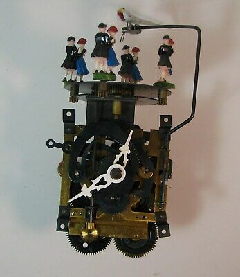 Vintage Musical Dancer Cuckoo Clock Movement With Dancers
