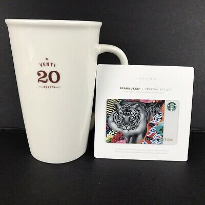 STARBUCKS Coffee Cup 2010 VENTI 20 Ounces Mug Coffee Stories Gift Card