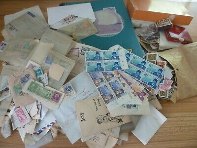 Worldwide Box Lot Indonesian Estate # 2 Thousands of Stamps Older Mix, Unchecked
