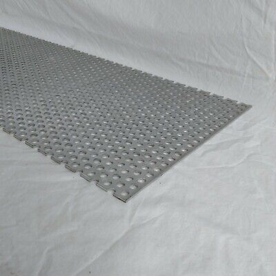 """Perforated Metal Aluminum Sheet .125"""" x 12"""" x 24"""" 3/8"""" hole 11/16"""" Stagger"""