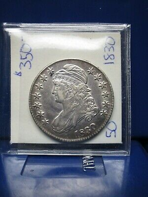 1830 50c Capped Bust Half Dollar ~ LUSTROUS NEVER CLEANED!