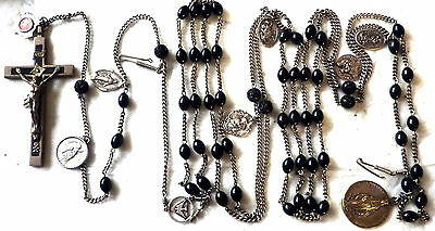 ⭐ Nuns Estate Relic Rosary ✞ Huge 6' Habit Rosaries ☧ Passionist Saints 7 Medals