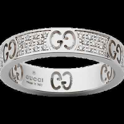 84dde6cd8 18K Gucci Icon Stardust Ring YBC163043002 with diamonds Gucci 15/ US 7 $2250