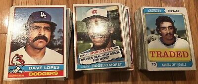 1974 1976 Topps Traded 1976 Topps 200 Baseball Cards Collection Low Grade Lot