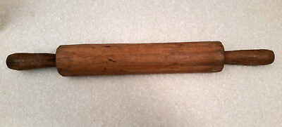 Unusual Primitive Antique Hand Carved Wooden Rolling Pin 150+ Years Old