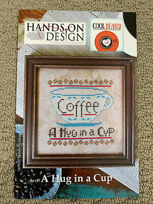Hands on Design - A Hug in a Cup-- Cross Stitch Pattern/Chart