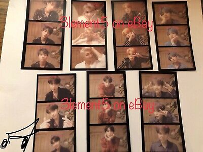 BTS Group Set Photocard Film Strips Maps of the Soul Persona Jungkook Jimin V