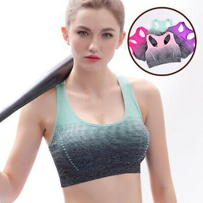 Women Sport Bra High Stretch Top Fitness Padded Running Yoga Seamless Crop Bra
