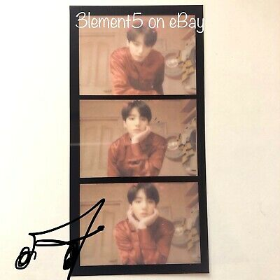 BTS Jungkook Photocard Film Strips Maps of the Soul Persona Suga Jin RM Jimin V