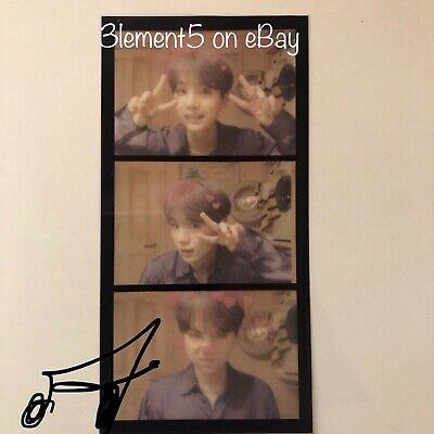 BTS Suga Photocard Film Strips Maps of the Soul Persona Jungkook Jin RM Jimin V
