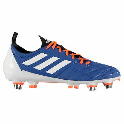 blau Adidas Adipower Kakari Soft Ground Rugby Boots Herren