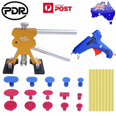 AU PDR Tools Paintless Hail Repair Dent Lifter Glue Gun Puller Tabs Removal Kit