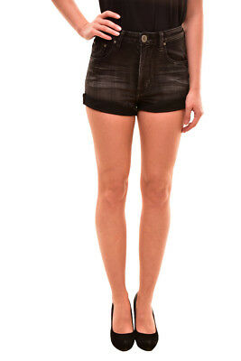 One Teaspoon Women's Harlets Shorts Size 26 Superstar Black RRP $120 BCF81