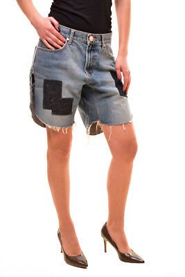 One Teaspoon Women's Relaxed Fit Bandits Shorts Size S Blue RRP $130 BCF81