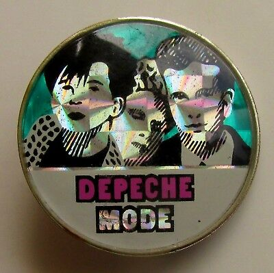 DEPECHE MODE VINTAGE METAL PIN BADGE FROM THE 1980's CRYSTAL STYLE SYNTH POP