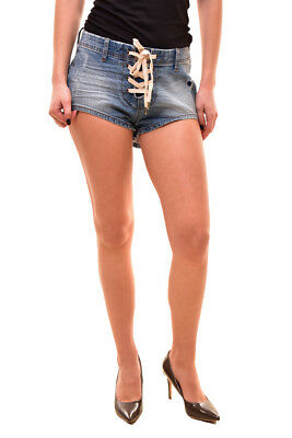 One Teaspoon Women's Authentic Sixties Shorts Size 26 Blue Stone RRP $110 BCF81