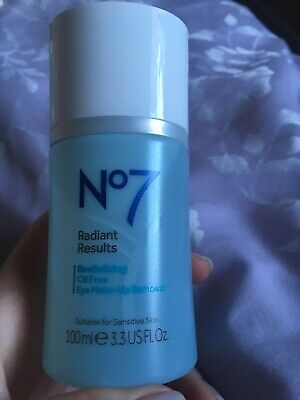 No7 Radiant Results Revitalizing Oil Free Eye Makeup Remover 100ml NEW