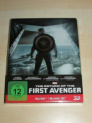 Marvel Captain America -3D blu ray The Return Of The First Avenger Steelbook-TOP