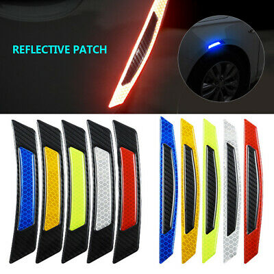 2pcs/set Useful Car Door Edge Guard Reflective Sticker Tape Decal Safety Warning