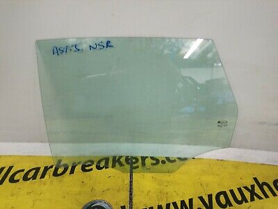 Vauxhall Astra Mk5 H 2004-10 Rear Door Glass Window Drivers Right Side OSR