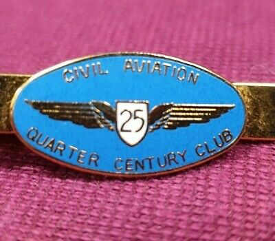Civil Aviation 25 Years Quarter Of A Century Club Badge Tie Bar